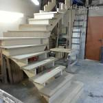 Предварительная сборка лестницы