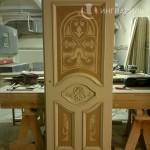 Дверь с маркетри перед покраской