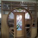 Шкаф портал из массива в стиле модерн