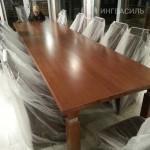 Обеденный стол из массива дуба. Длина 4 метра. Состоит из 4 частей