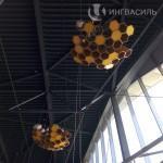Освещение в виде пчелиных сот