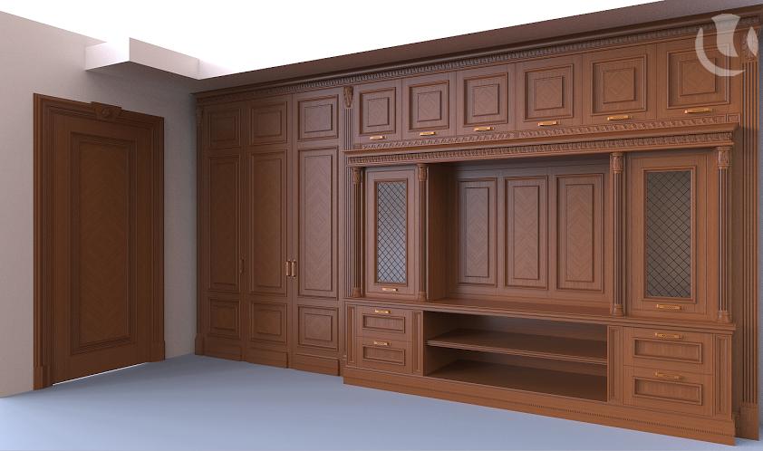 Заказать  дизайн кабинета в 3D
